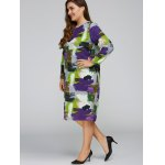 Plus Size Scrawl Cocoon Dress with Pocket deal