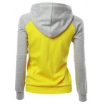 cheap Raglan Sleeve Color Block Hoodie