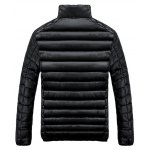 cheap Stand Collar Zip-Up Quilted Jacket