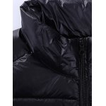 Stand Collar Zip-Up Quilted Jacket deal