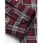 Turn-Down Collar Plus Size Checked Long Sleeve Shirt deal
