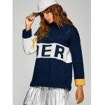 best Active Inverse Letter Red Pattern Sweater