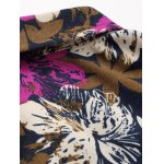 Flower Printed Plus Size Long Sleeve Shirt deal
