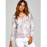 cheap Active V Neck Camouflage Sweater