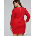 3/4 Sleeve Plus Size Mini Dress for sale