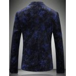 cheap Breast Pocket Notch Lapel Texture One-Button Blazer