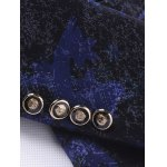 Breast Pocket Notch Lapel Texture One-Button Blazer photo