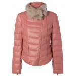 Faux Fur Collar Puffer Jacket