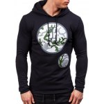 cheap Active Graphic Printed Pullover Hoodie