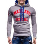Mainland Printed Color Block Pullover Hoodie for sale