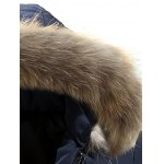 Faux Fur Collar Hooded Lengthen Zip-Up Quilted Coat deal