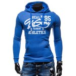 cheap 95 Printed Color Block Pullover Hoodie