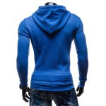 95 Printed Color Block Pullover Hoodie for sale