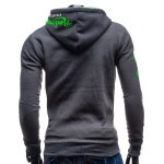 cheap Hooded Zip-Up Graphic Printed Hoodie