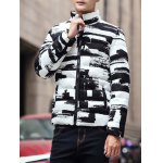 best Stand Collar Zippered Texture Padded Jacket