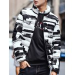 Stand Collar Zippered Texture Padded Jacket for sale