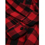 Long Sleeve Breast Pocket Button Up Plaid Shirt for sale