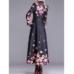 cheap Floral Print Vintage Trench Coat