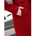 best Wool Blend Shawl Collar Belted Coat
