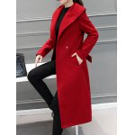 Wool Blend Maxi Long Wrap Shawl Collar Belted Coat deal