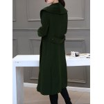 cheap Double Breasted Maxi Coat with Shawl Collar