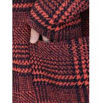 Houndstooth Hooded Wool Blend Coat for sale