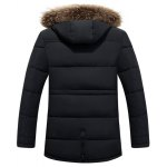 cheap Furry Hood Selvedge Embellished Zip-Up Padded Coat