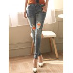 cheap Ripped Distressed Patches Jeans