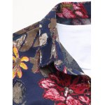 Buttoned Floral Printing Long Sleeve Casual Shirt deal