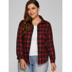 Checked Plus Size Shirt