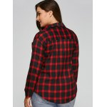 Checked Plus Size Shirt for sale