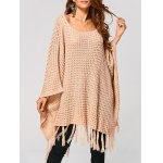 Hollow Out Tassels Handkerchief Cape Sweater