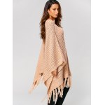 Hollow Out Tassels Handkerchief Cape Sweater for sale