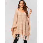 Hollow Out Tassels Handkerchief Cape Sweater deal