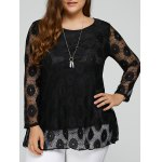 Plus Size Lace Tunic Top