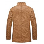 cheap Stand Collar Single-Breasted Epaulet Embellished Jacket
