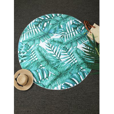 Tropical Plant Round Blanket