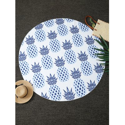 Pineapples Print Round Blanket Throw