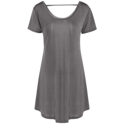 Hollow Out Tunic Tee Casual Dress