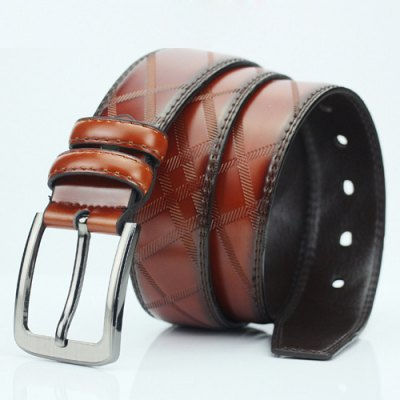 Casual Pin Buckle PU Cirss Cross Carved Belt