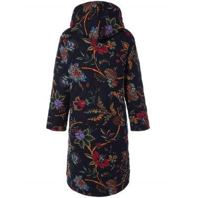 Hooded Floral Print Plus Size CoatPlus Size Outerwear<br>Hooded Floral Print Plus Size Coat<br><br>Clothes Type: Wool &amp; Blends<br>Clothing Length: Long<br>Collar: Hooded<br>Embellishment: Pockets<br>Material: Polyester<br>Package Contents: 1 x Coat<br>Pattern Type: Floral<br>Season: Winter, Spring, Fall<br>Sleeve Length: Full<br>Style: Streetwear<br>Type: Slim<br>Weight: 1.070kg