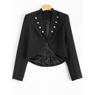 Buttons Cropped Blazer