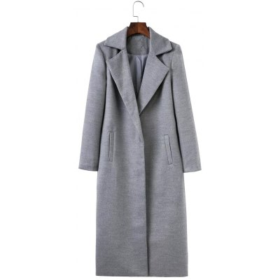 Fitted Double Pockets Wool Coat