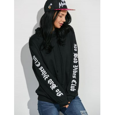 Graphic Sleeve Oversized Hoodie