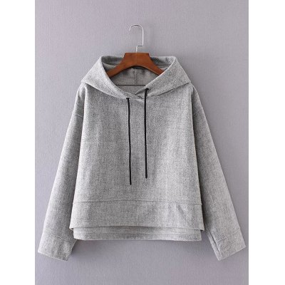 String Heather Woolen Hoodie