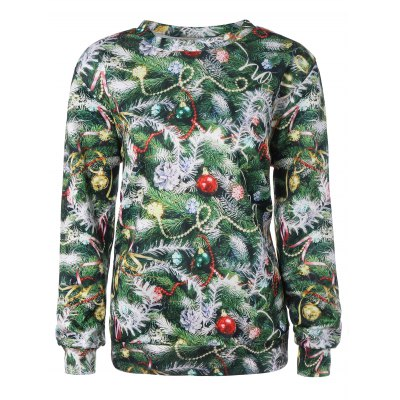 Christmas Tree 3D Print Sweatshirt