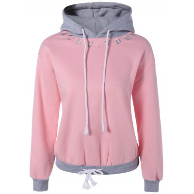 Embroidery Drawstring Hoodie