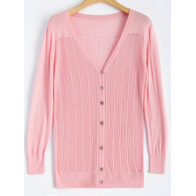 Buttons Slimming Cardigan