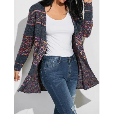 Geometric Ethnic Style Loose Cardigan
