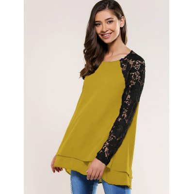 Lace Splicing Blouse blouse